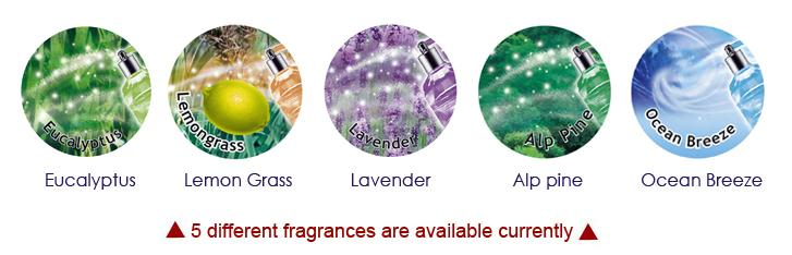 5 different fragrances are available currently