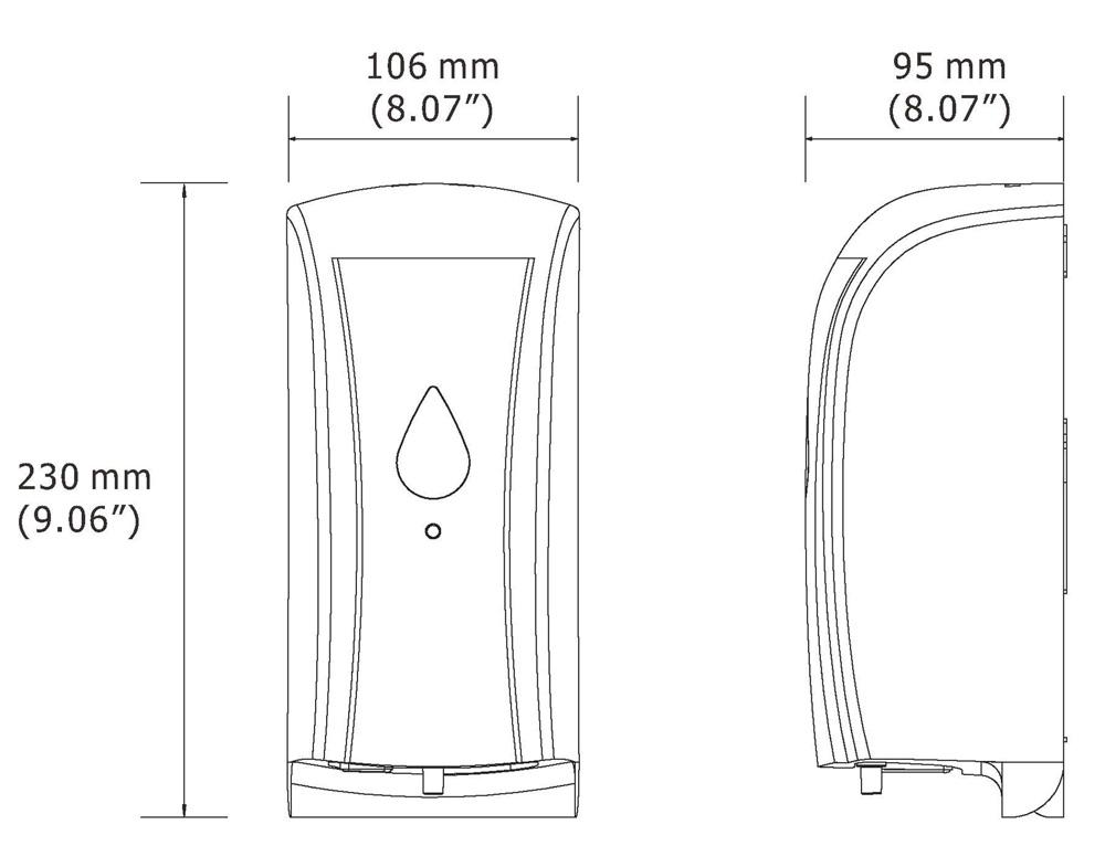HK SSD Auto Multi-Function Soap Dispenser (500ml) Specification